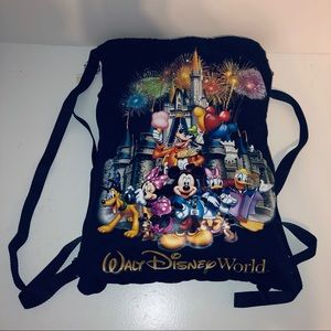 Disney Parks authentic cinchsack backpack like new